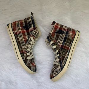US Polo Assn High Top Plaid Sneakers